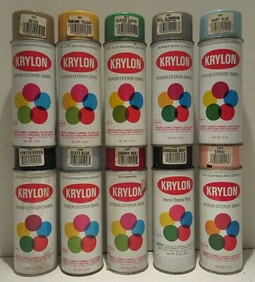 Bargain Lot of 10 Vintage Krylon Bar Code Spray Paint Can Old