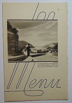 New York Central Railroad 1940 Folder Menu -  West Point  Empire State Express