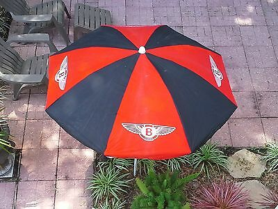 Original Bentley Beach Umbrella Near-Mint Condition from1970s to early 1980s