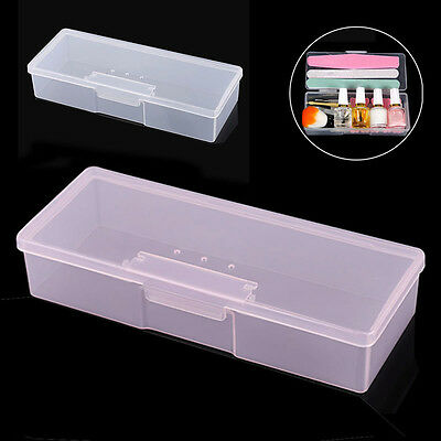 Nail Art Tool Storage Box Empty Tweezers Clippers Pens Cuticle Pusher Container