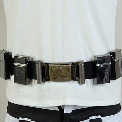 Batman v Superman Dawn of Justice League Cosplay Costume Outfit Metal Bags Belt
