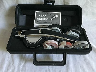 Vintage DYMO 1500 Series Tapewriter 3 Front Reels    Tapes