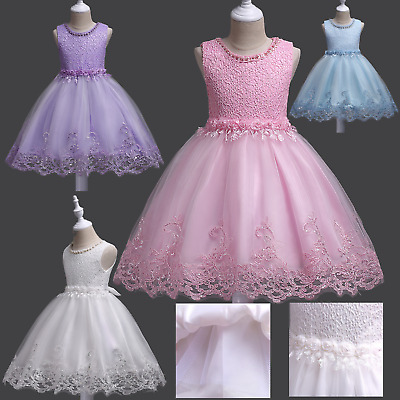 Flower Girl Beads Sequin Party Birthday Pageant Wedding Formal Performance Dress