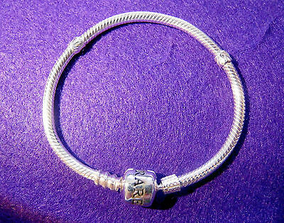 16cm Genuine 'Adorare' 925 Sterling Silver European Bracelet and a Charm.