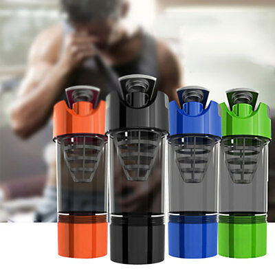 Cyclone Cup Protein Blender Drink Mixer Shaker with Compartment For Sport