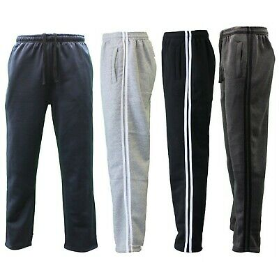 NEW Men's Fleece Lined Track Pants Track Suit Pants Striped Casual Trackies