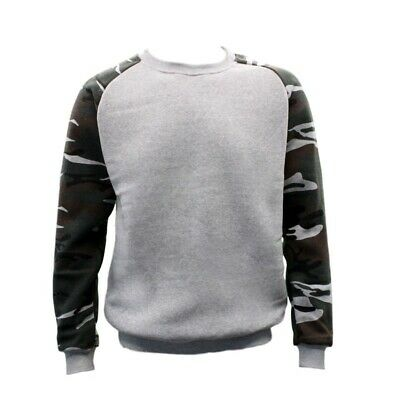 NEW Men's Adult Unisex Crew Neck Jumper Pullover Casual Sports - Camouflage