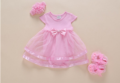 "For 22"" Reborn Dolls' Dress Clothes Newborn Baby Girl Clothes Size 0-3 Months"