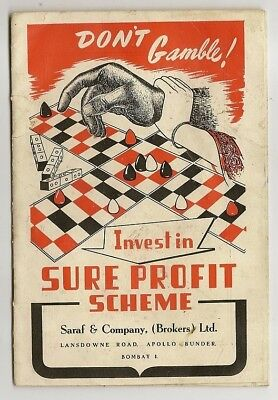1950 India Sure Profit Scheme SCAM booklet
