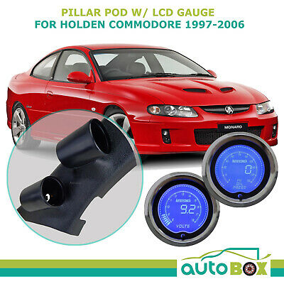 SAAS PIllar Pod suits VT VX VY VZ Holden Commodore with LCD Oil Pressure + Volts