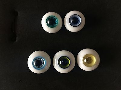 Exquisite 5 pcs  Glass Half-Round BJD Eyes Outfits For Reborn/newBorn Doll