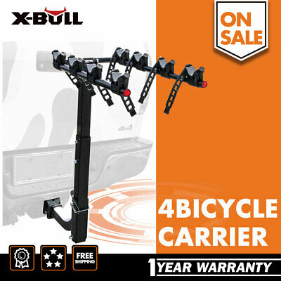 "iKuram 4 Bicycle Car Bike Carrier Rack 2"" Lockable Inch Hitch Mount Foldable"