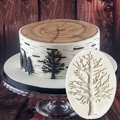 A Dead Tree Silicone Fondant Cake Mold Chocolate Baking Pastry Decor Mould DIY