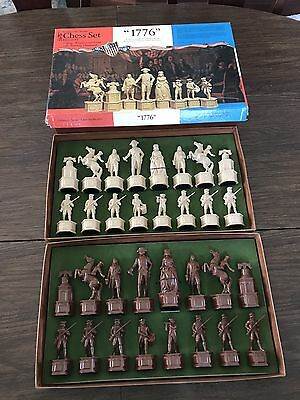 """VINTAGE Collector' Series Chess Set """"1776"""" Edition VI Classic Games Company 603"""