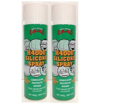 2 x SILICONE SPRAY HELMAR  300g H4000  FOR TREADMILLS,BICYCLE/OIL LUBRICANT