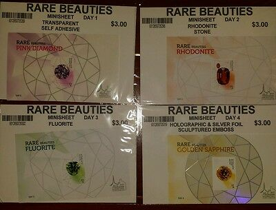 Melbourne 2017 Australia Stamp Show Rare Beauties Complete 4 Days Set Minisheet