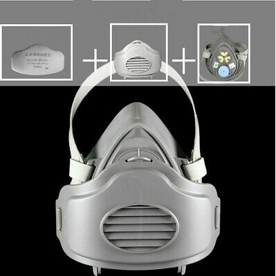 Back To Search Resultstools Hearty Filter Respirator Spray Paint Dust Gas Mask Half Facepiece With 3700 Filter Set Customers First