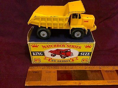Vintage Matchbox King-Size No 5 Foden Dump Truck Rare Crown Box Version Lesney!