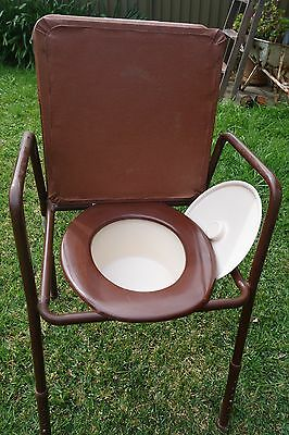 Padded  Commode Chair with arms