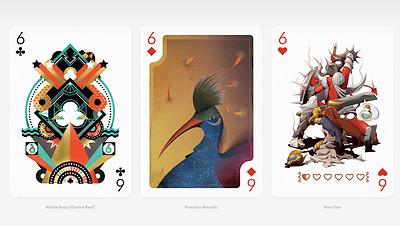 Playing Arts: Edition Three Playing Cards // // Designed by 55 Artists