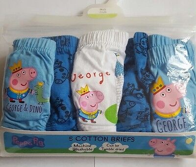 Baby Boys George Pig 5 Cotton Briefs/underwear From Boots Size 12-18 Months