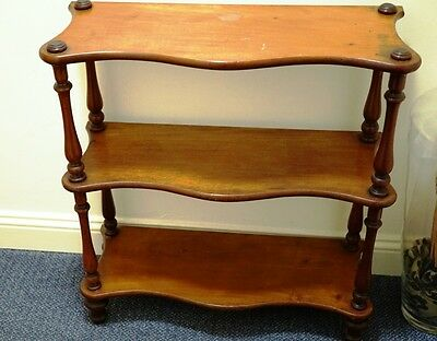 Victorian Mahogany bookcase/Console hall table with shelves