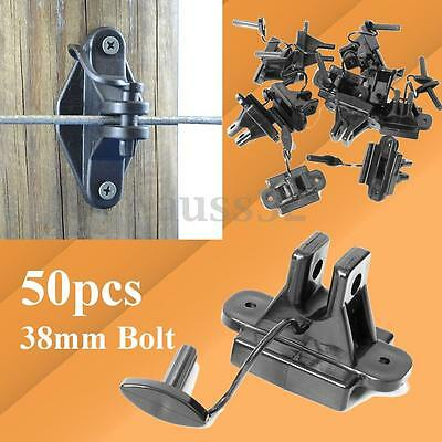 50pcs Electric Fence Pinlock Insulators Bolt Timber Wood Post Nail Scerw On