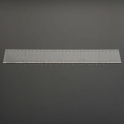 Sew-Easy Quilters Patchwork Ruler Sewing Quilting Cutting Tools Clear 30*5cm