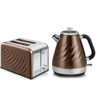 Swan Copper Twist Kettle and Toaster Set - SK37010TWN / ST19010TWN