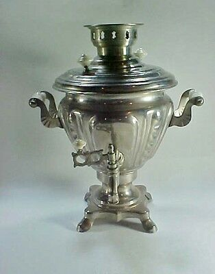 Vintage Russian Chrome Coffee / Tea Samovar