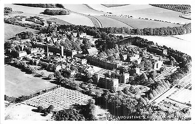 POSTCARD  KENT  CHARTHAM   St  Augustine's  Hospital  Aerial  View     RP
