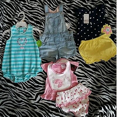 A Lot Of 4 Brand New Baby Girl Outfits 9-12 Months