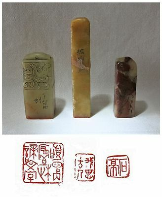 3 Old Chinese Leisure Seals