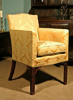 Very Fine 18th Century Chinese Chippendale Wing  Chair c.1765