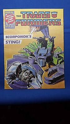 Marvel The Transformers comic UK Weekly #131 Sept 19th 1987