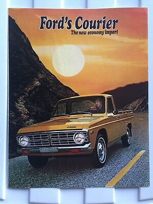 Original 1972 Ford Courier Truck Advertising Sales Brochure Folder (Exc Cnd)