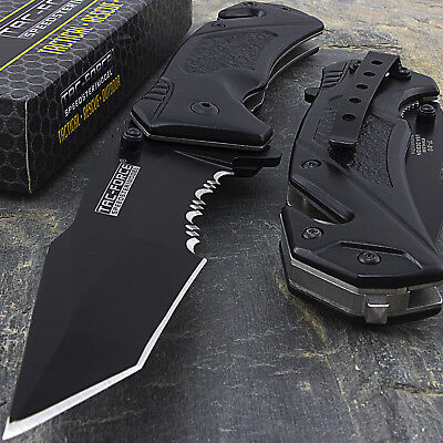 "8.25"" TAC FORCE TANTO SPRING ASSISTED TACTICAL FOLDING POCKET KNIFE Open Assist"
