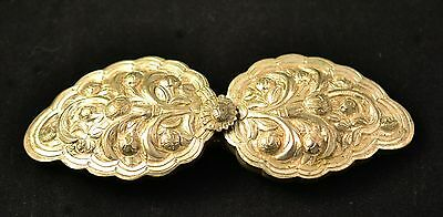 Antique Bulgarian Gabrovo XIXth, silver alloy, Cast Belt Buckles