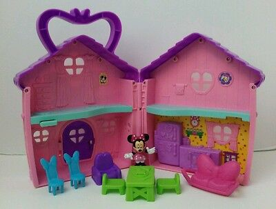 MINNIE MOUSE BOW-TIQUE Dollhouse Play House + MINNIE and Furniture