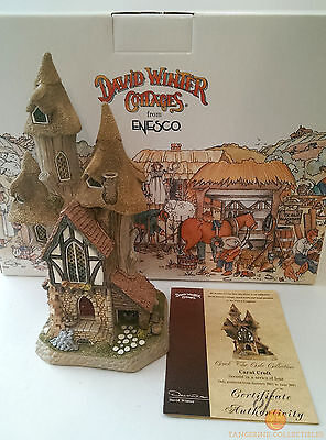 David Winter Cottages CARAT CROFT From the Crack The Code Collection Boxed + COA
