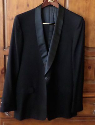 Men's classic black tuxedo jacket and pants 41 long  38x 32  GUC