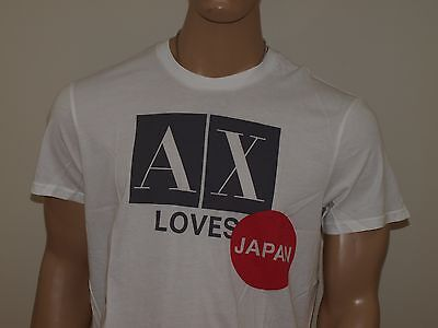 87427ffa ARMANI EXCHANGE AUTHENTIC AX loves Japan Logo T shirt White NWT ...