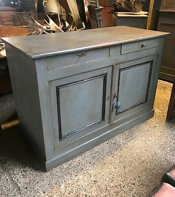 Superb Antique French Painted Country Farmhouse Cupboard Sideboard