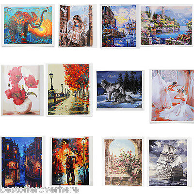 New DIY Digital Oil Painting By Number Kit Canvas Paint Home Wall Decoration
