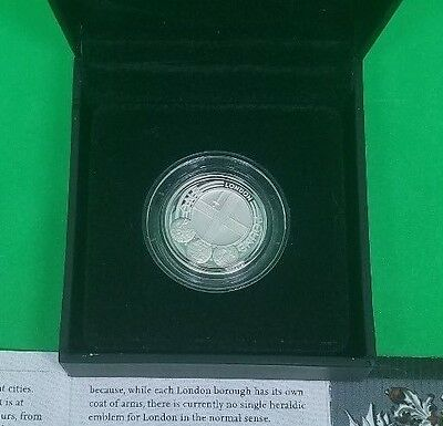 2010 Royal Mint City of London Silver Proof Coin Low Mintage