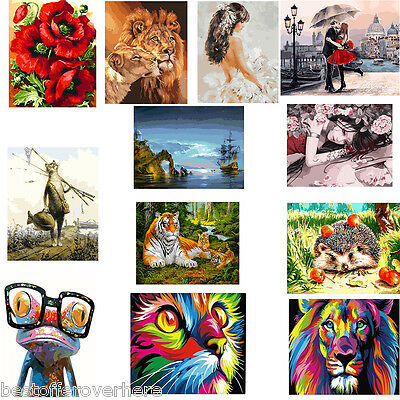 DIY Digital Oil Painting By Number Kit Canvas Paint Fashionable Wall Decoration