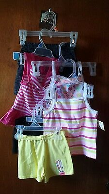 Girls 18 months new nwt lot of 6 shirts shorts outfits cute garanimals huge