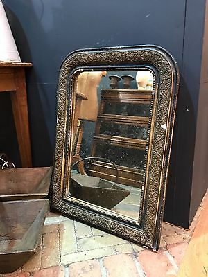 19th Century Antique French Ebonised Foxed Mirror