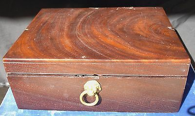 Antique Travel / Portable Walnut Secertary Mahogony Pen Rest Pretty Wood Veining