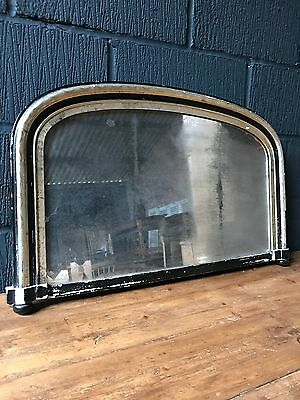 19th Century French Overmantle Ebonised Foxed Mirror